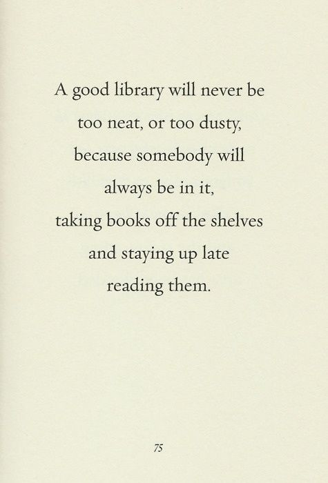 A good library...