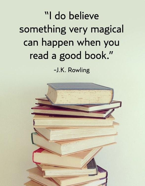Do believe something very magical can happen when you read a good