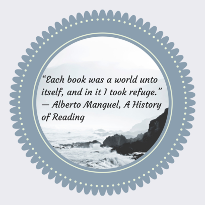 """Each book was a world unto itself, and"