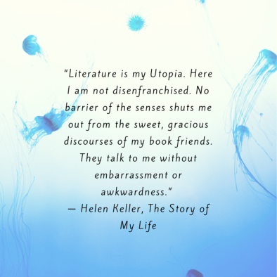 """Literature is my Utopia. Here I am not"