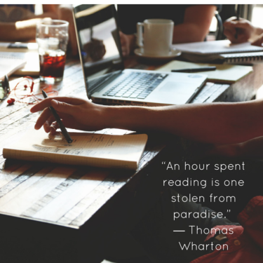 """""""An hour spent reading is one stolen"""
