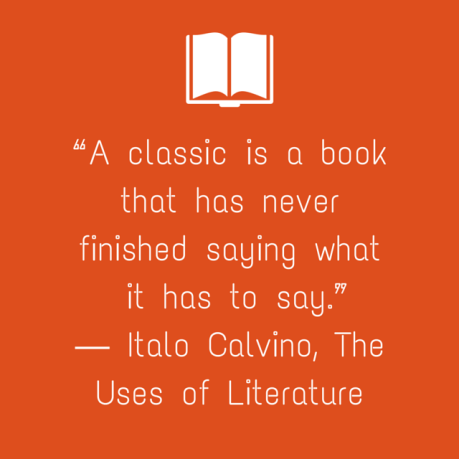 """A classic is a book that has never"